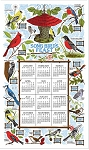 4620279 Calendar Towel, Song Bird's Feast, 17