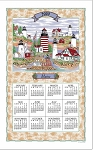 4620292 Calendar Towel, Maine Lighthouse Collage, 17