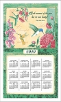 4620334 Calendar Towel, Wings & Blossoms, 17