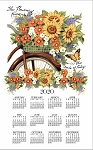 4620343 Calendar Towel, Bicycle Floral, 17