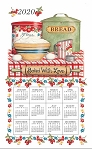 4620346 Calendar Towel, Baked With Love, 17