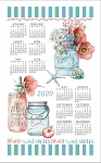 4620352 Calendar Towel, Beach House Floral, 17