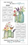 4620354 Calendar Towel, Wildflowers, 17