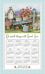 2022 Calendar Towel, Blue Wagon, 17