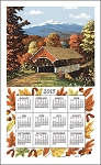 2015 Calendar Towel, Fall Covered Bridge, 17