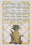 82-189 Calendar Towel, Mt. Vernon Pineapple, 16