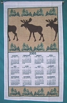82-471 Calendar Towel, Moose, 16