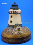 51211 Lighthouse Tea Light Holder, Ceramic, By David Carter Brown