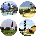 AS575 Coasterstone Coasters Florida Lights Assortment Set of 4