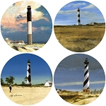 AS1370 Coasterstone Coasters North Carolina Lights Asst. Set of 4
