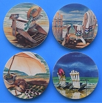 AS4090 Coasterstone Coasters Beach Time Assortment Set of 4
