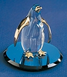 Penguin Glass Figurine by Glass Baron, #S0 258G-B