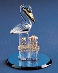 Pelican On Pilings Glass Figurine by Glass Baron, #S2 361G-B