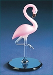 Glass Pink Flamingo Figurine by Glass Baron, #S2 386S-B