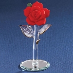 Glass Red Rose Figurine by Glass Baron, #S2 801R