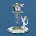 Hickory Dickory Clock Figurine by Glass Baron, #S4 698