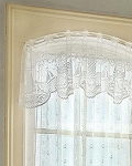 Lighthouse Lace White Valance, 60