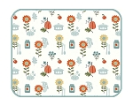 Autumn In Bloom Microfiber Drying Mat, by Kay Dee Designs