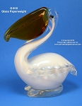 G-916 Glass Pelican Paperweight