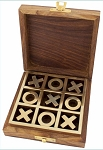 Tic-Tac-Toe Game with Wood Box, #Z-102