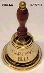 Captain's Brass Hand Bell 6-1/2