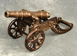 W-6008 Antique Look Aluminum Cannon 8-3/4