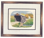 Cross Stitch Chart Goddard Covered Bridge