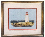 Cross Stitch Chart Sunrise On Peggy's Cove