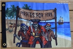 Pirate Flag, Pirates For Hire,  12