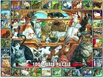#135 The World Of Cats Jigsaw Puzzle,  1000 pc.