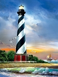 Cape Hatteras Lighthouse Jigsaw Puzzle, 500 pc., by SunsOut Puzzles, #28835