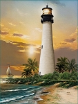 Cape Florida Lighthouse Jigsaw Puzzle, 500 pc., by SunsOut Puzzles, #28838