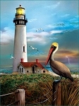 Pigeon Point Lighthouse Jigsaw Puzzle, 500 pc., by SunsOut Puzzles, #28847