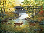Rock Creek Crossing Jigsaw Puzzle, 500 pc., by SunsOut Puzzles, #51979