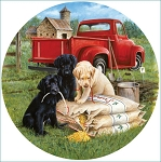 Seeds Of Mischief Round Jigsaw Puzzle, 500 pc., by SunsOut Puzzles, #73441