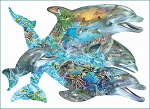 Song Of The Dolphins Shaped Jigsaw Puzzle, Approx. 1000 pc., by SunsOut Puzzles, #95264