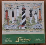 Florida Lighthouse Collage Jigsaw Puzzle by Heritage Puzzle, 550 pc., #10515