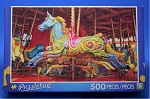 Blue Carousel Horse Jigsaw Puzzle, 500 pc., #06722, by Puzzlebug