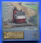 Round Island Lighthouse Jigsaw Puzzle by Heritage Puzzle, 80 pc., #10825