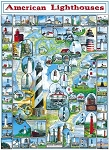 #132 American Lighthouses Jigsaw Puzzle 1000 pc.