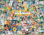 The Sixties Jigsaw Puzzle, 1000 pc., by White Mountain Puzzles, #305