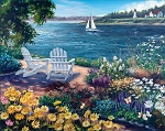 Garden By The Bay Jigsaw Puzzle, 1000 pc., by White Mountain Puzzles, #1143
