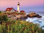 Maine Lighthouse Jigsaw Puzzle, 1000 pc., by White Mountain Puzzles, #1207
