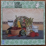 Vegetables In Stitches Large Format Jigsaw Puzzle, 300 pc., by F X Schmid