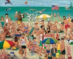 What A Beach! Jigsaw Puzzle, 1000 pc., by White Mountain Puzzles, #801PZ