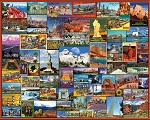 Best Places In America Jigsaw Puzzle, 1000 pc., by White Mountain Puzzles, #1119PZ