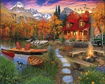Cozy Cabin Jigsaw Puzzle, 1000 pc., by White Mountain Puzzles, #1269PZ