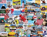 I Love Maine Jigsaw Puzzle, 1000 pc., by White Mountain Puzzles, #1306PZ