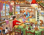 Christmas At Grandma's Jigsaw Puzzle, 1000 pc., by White Mountain Puzzles, #1381PZ
