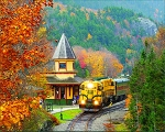 Scenic Railroad Jigsaw Puzzle, 1000 pc., by White Mountain Puzzles, #1398PZ